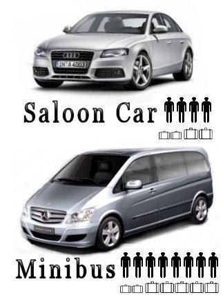 Mini buses, mpv's, 6 seaters, saloon cars